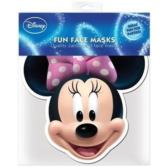 Kartonnen maskertje Minnie Mouse
