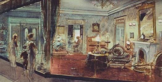 Wohnzimmer aus dem frühen 20. Jahrhundert