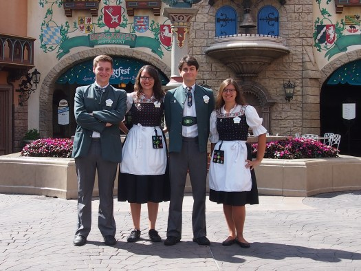 EPCOT Germany Cast Member Costumes in merchandise roles