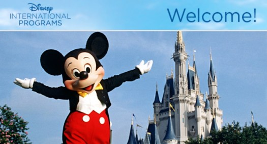 Disney International Programs: Welcome to the Team email