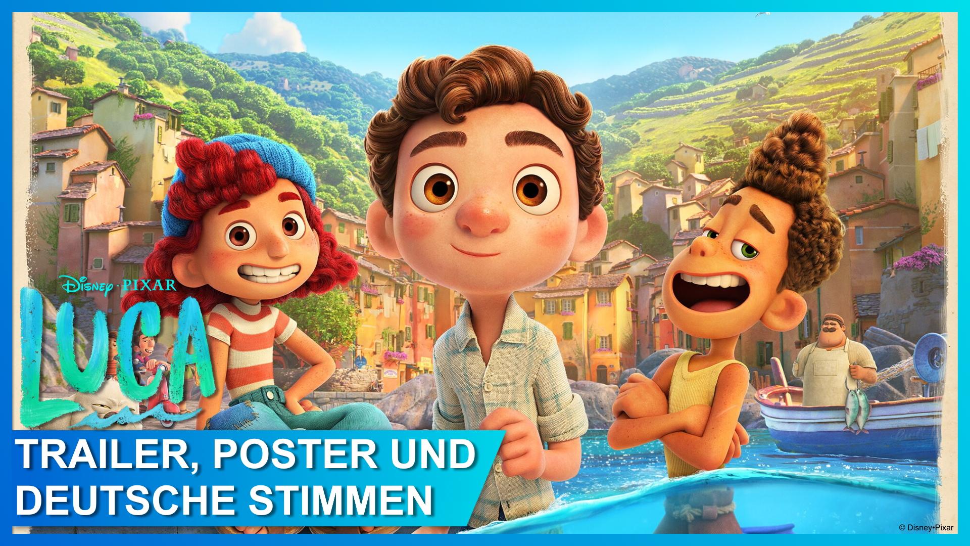 Pixars LUCA – Trailer, Poster und die deutschen Stimmen!