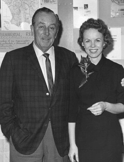 Walt Disney und Tommie Laurine Wilck