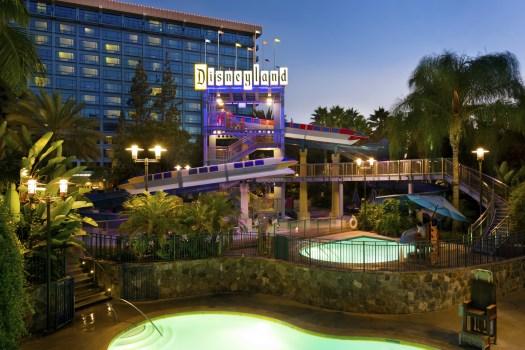 Behind the Attraction Disneyland Hotel 7