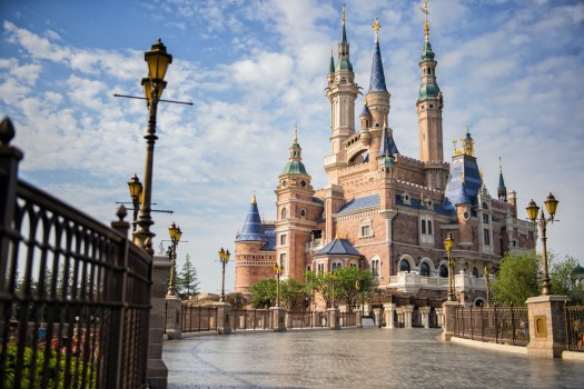 Behind the Attraction The Castles Shanghai Disney Resort Enchanted Storybook Castle 1