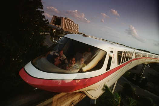 Behind the Attraction Trains Trams and Monorails Walt Disney World Contemporary Resort Monorail