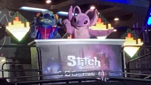 Stitch and Angel at Disneyland Paris' New Year's Eve Party