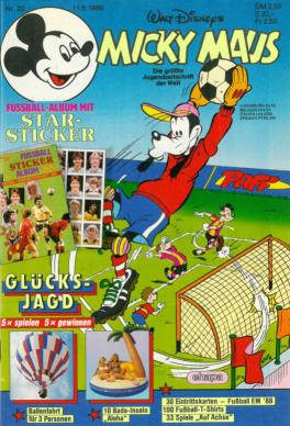 Micky Maus 20 / 1988: Das letzte Heft von Dr. Erika Fuchs als Chefredakteurin