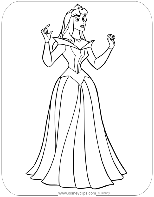 Printable Coloring Pages Aurora