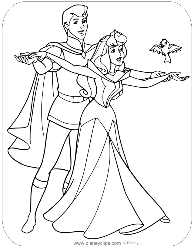 Sleeping Beauty Coloring Pages (28)  Disneyclips.com
