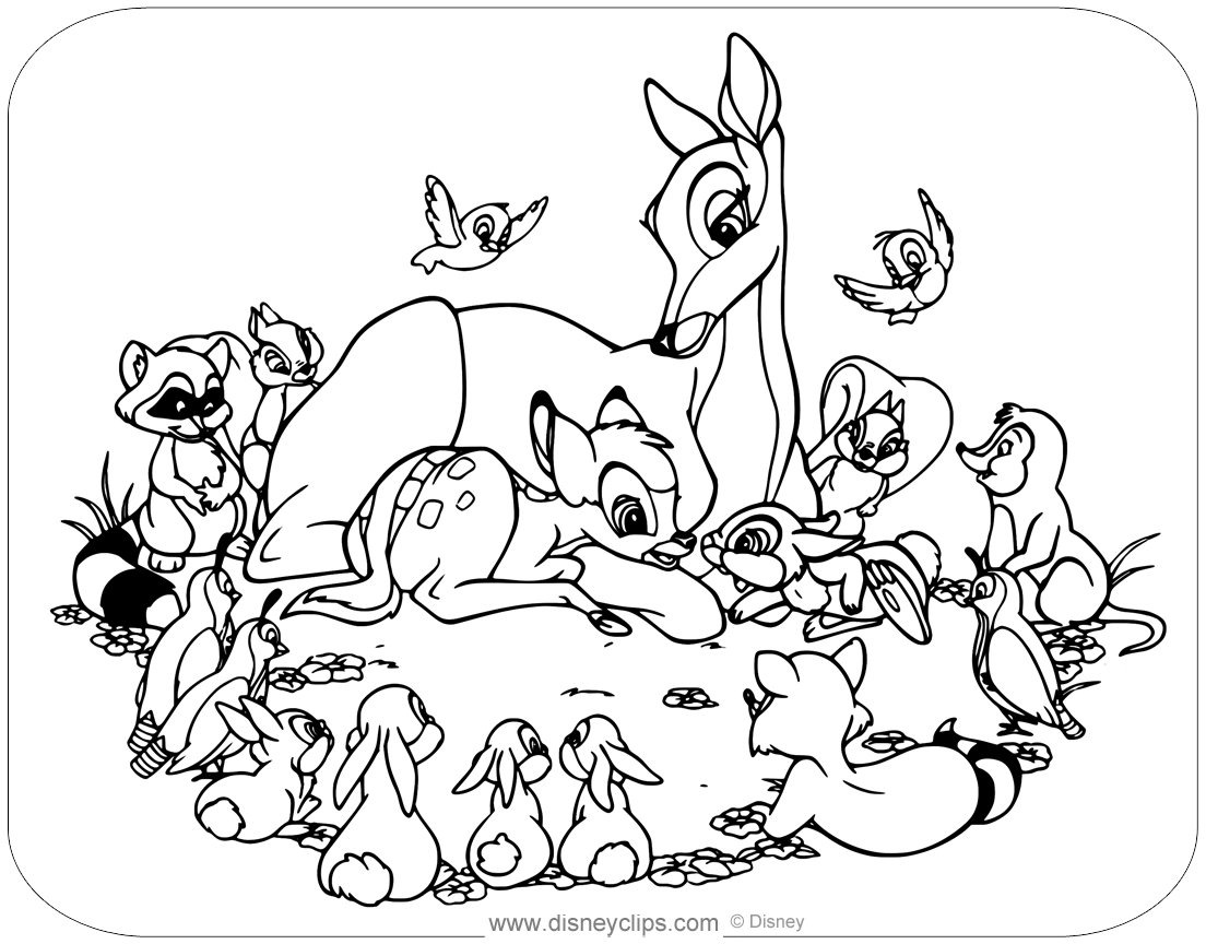Disney S Bambi Coloring Pages 4