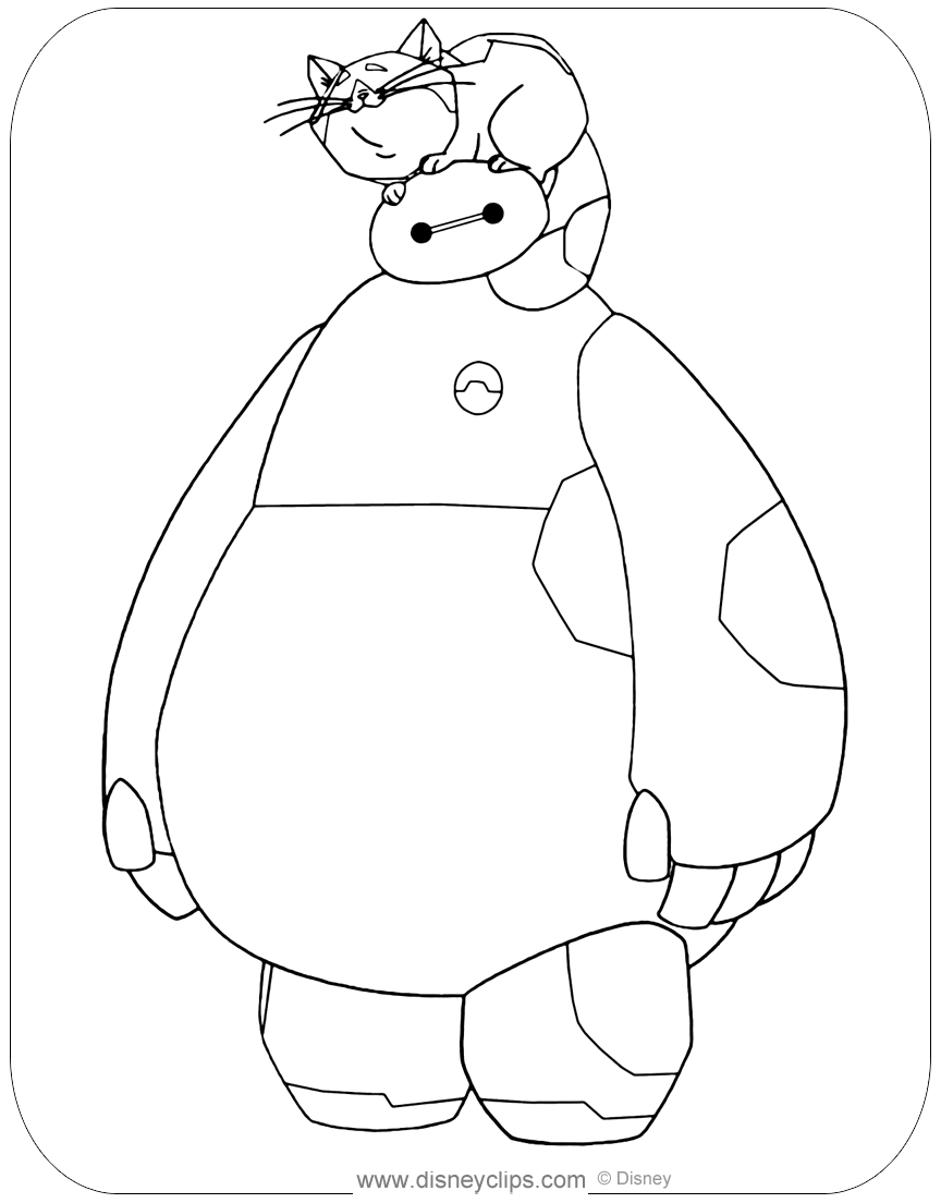 Big Hero 6 Coloring Pages Disneyclips Com