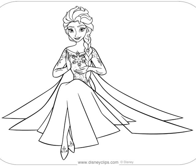 Disneys Frozen Coloring Pages Disneyclips Com