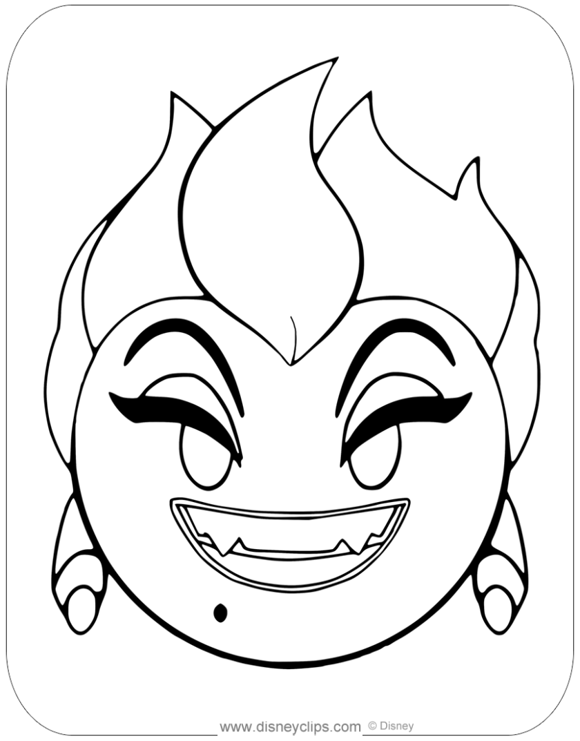 disney emojis coloring pages 2  disneyclips