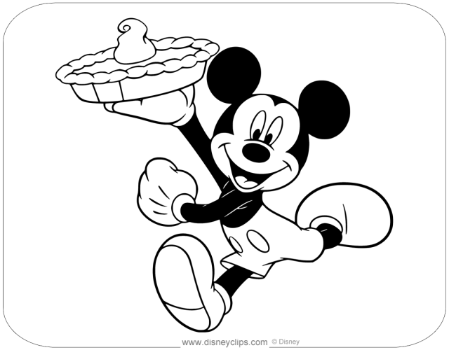 Disney Thanksgiving Day Coloring Pages  Disneyclips.com