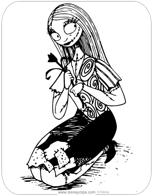 The Nightmare Before Christmas Coloring Pages  Disneyclips.com