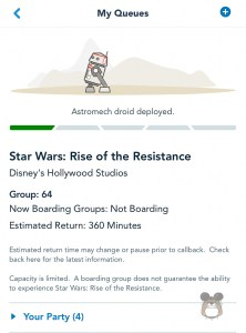 Star Wars: Rise of the Resistance Boarding Pass