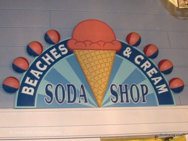Beaches And Cream Soda Shop Disney Dining Information