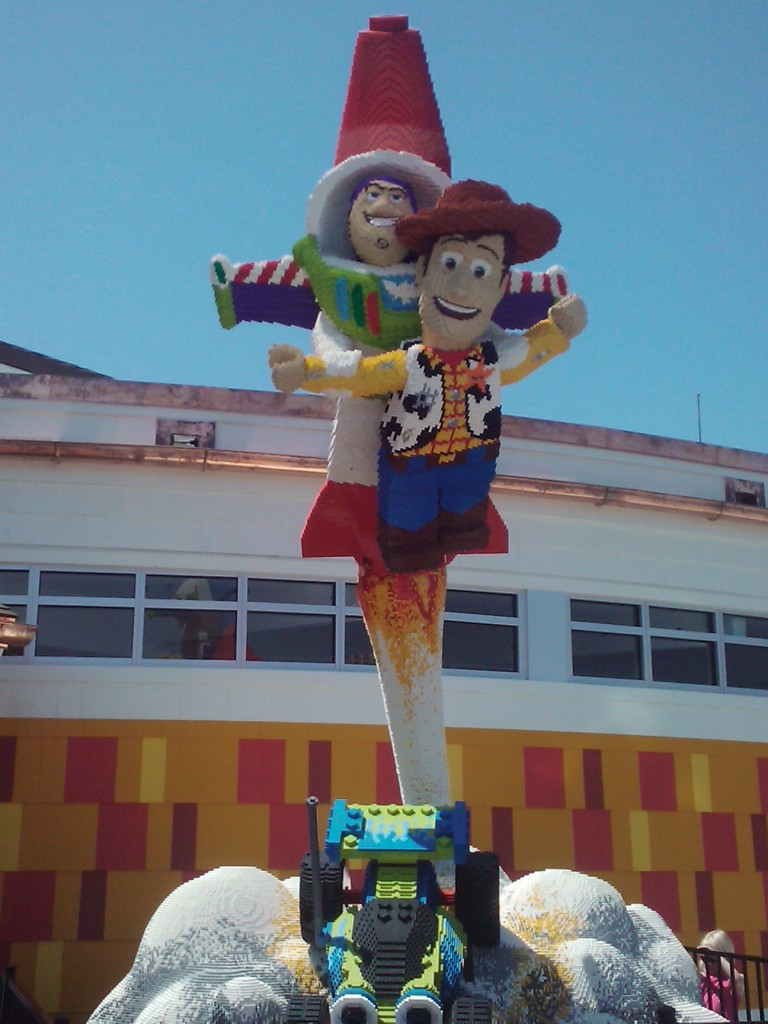 Photos  New Lego Structures at Downtown Disney Orlando   Disney     Toy Story Buzz Woody Lego Scene Downtown Disney