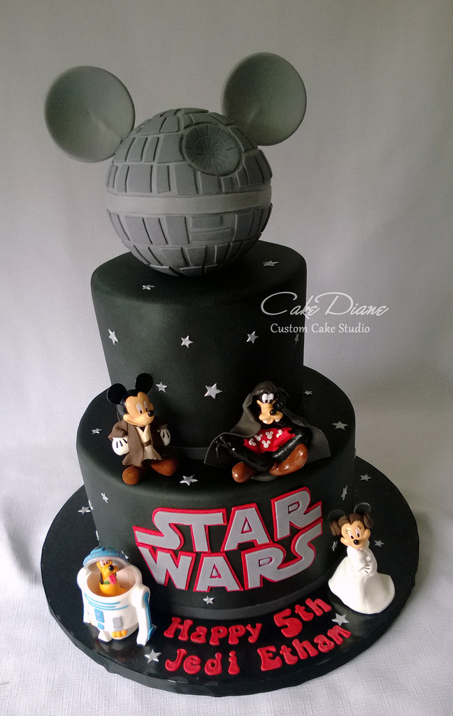 Disney Star Wars Mickey Death Star Birthday Cake Disney