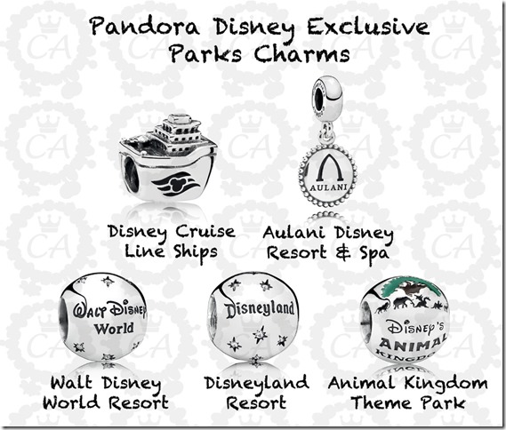 disney world park exclusive pandora charms 2018