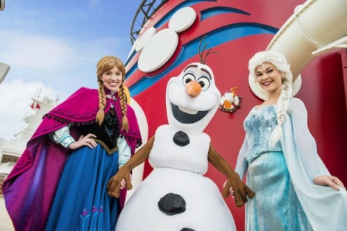 anna and elsa onbboard Disney Cruise Line