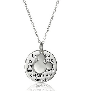 24961b33fd1f Disney Discovery- Mickey Mouse Quote Necklace