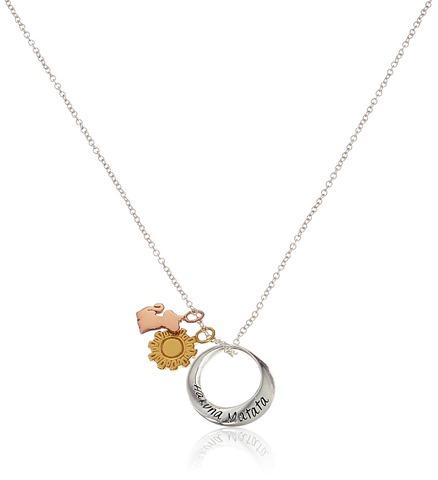 Disney Discovery Tri Colored Sterling Silver Hakuna Matata Necklace