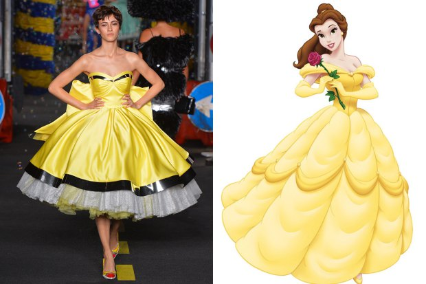 Disney Princess Gowns From Moschino Rock The Runway
