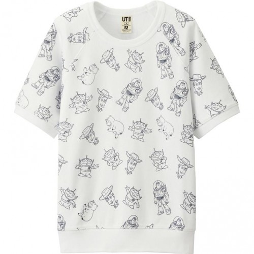 Uniqlo Short Sleeve Sweatshirt Toy Story