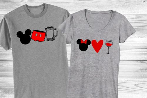 Food and Wine Couples Shirts