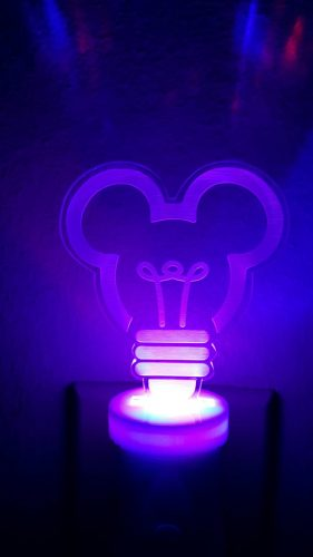 Mickey Mouse Night Light Purple