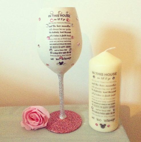 Wine Glass Candle Set