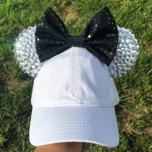 Minnie Mouse Baseball Hat Black