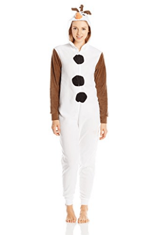 2017-02-01 11_02_25-Amazon.com_ Disney Women's Olaf Cos Play Hoodie Union Suit, White, Small_ Clothi