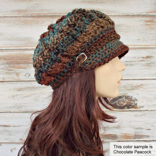 Newsboy cap crochet