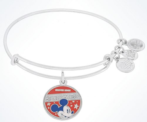 Alex and Ani Disney Mickey Icon Flag Gold Bracelet Patriotic NEW