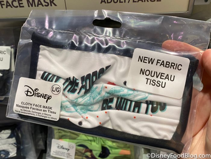 Disneyland 2020 Backlot Premiere Star Wars Face Mask May the Force