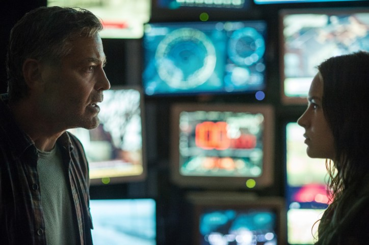 Disney's TOMORROWLAND..Frank George Clooney & Casey -Britt Robertson