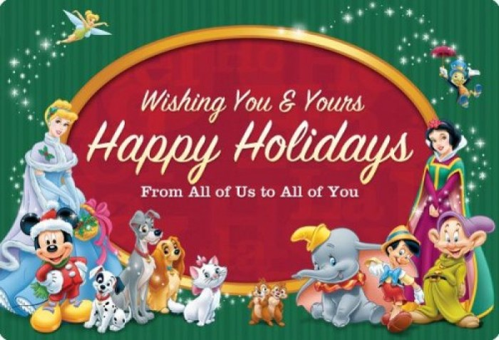 Merry Christmas Disney.From Our Families To Yours We Wish You A Merry Christmas