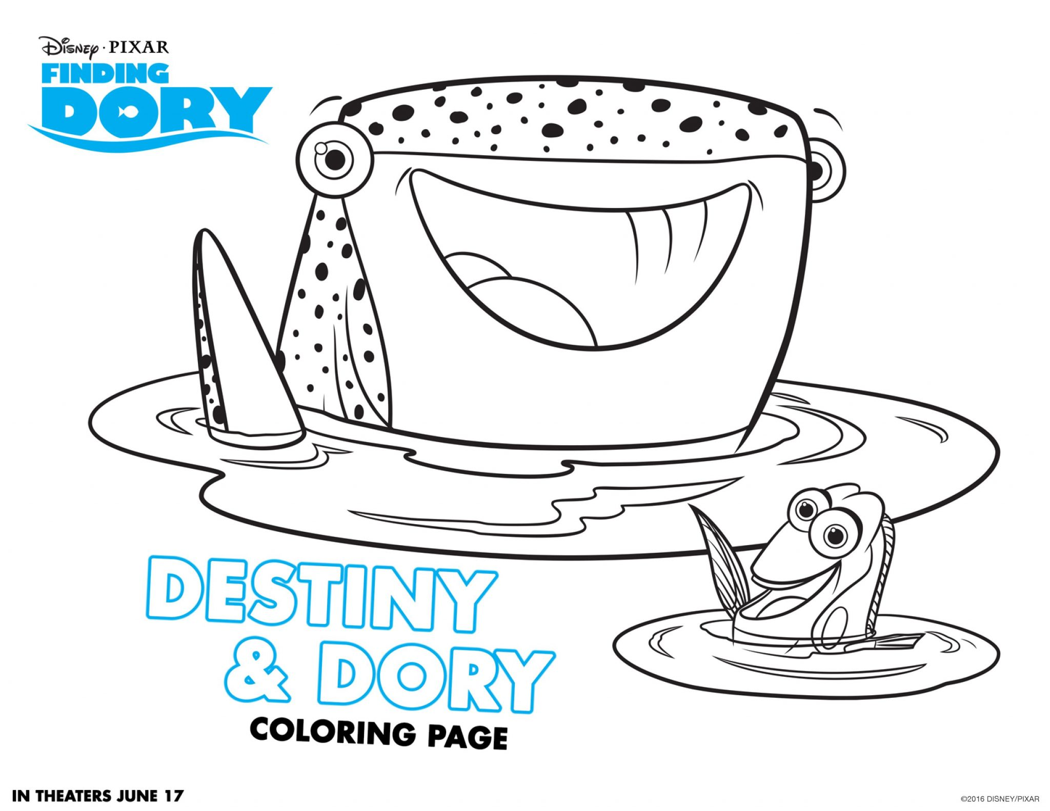 Printable coloring pages dory - Finding Dory Coloring Pages 3