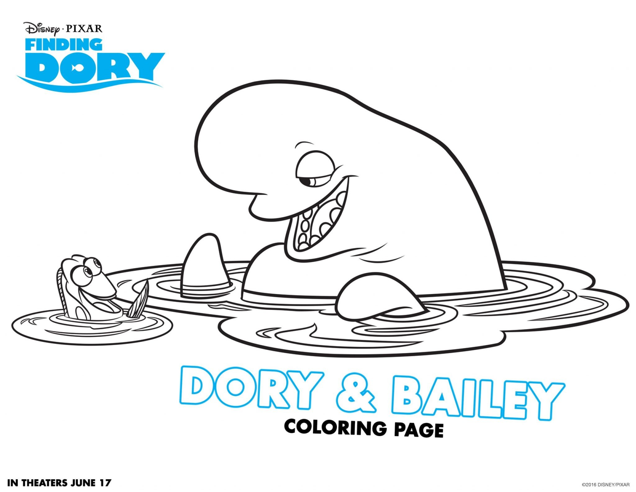 Printable coloring pages dory - Coloring Pages Dory Finding Dory Coloring Pages 4
