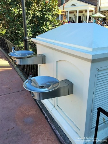 Stay hydrated by using the many water fountains located throughout the World Showcase.