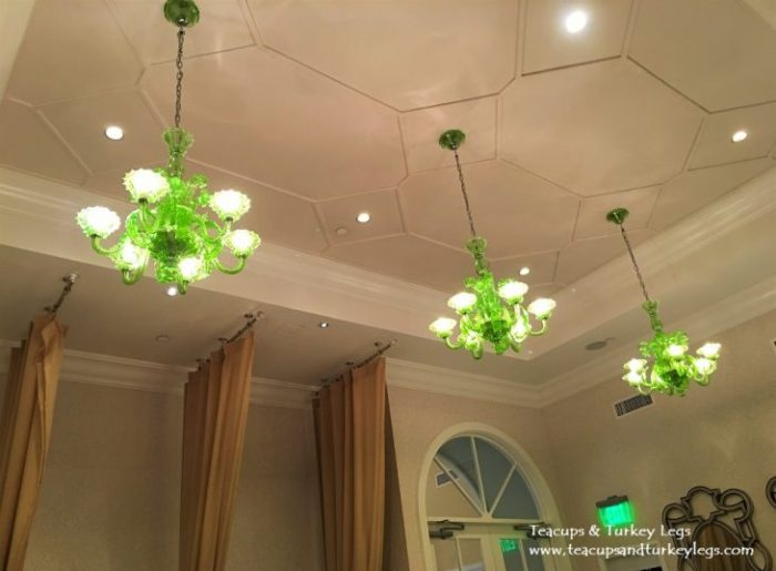Beautiful chandeliers at Senses - A Disney Spa at Disney's Grand Floridian Resort & Spa