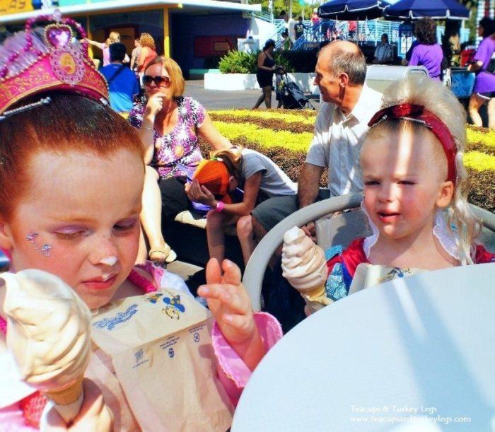 First Ice Cream Cones at Walt Disney World Resort