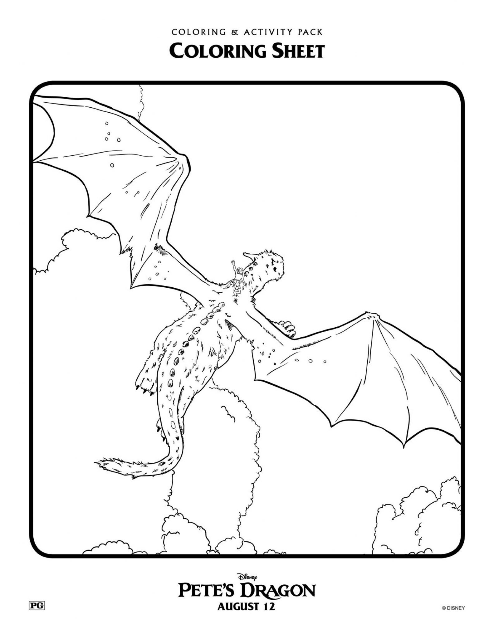 pete u0027s dragon coloring pages 2 disney gals