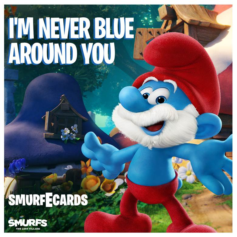 Turn Valentines Day Blue With These Free Smurf E Cards Activity Sheets