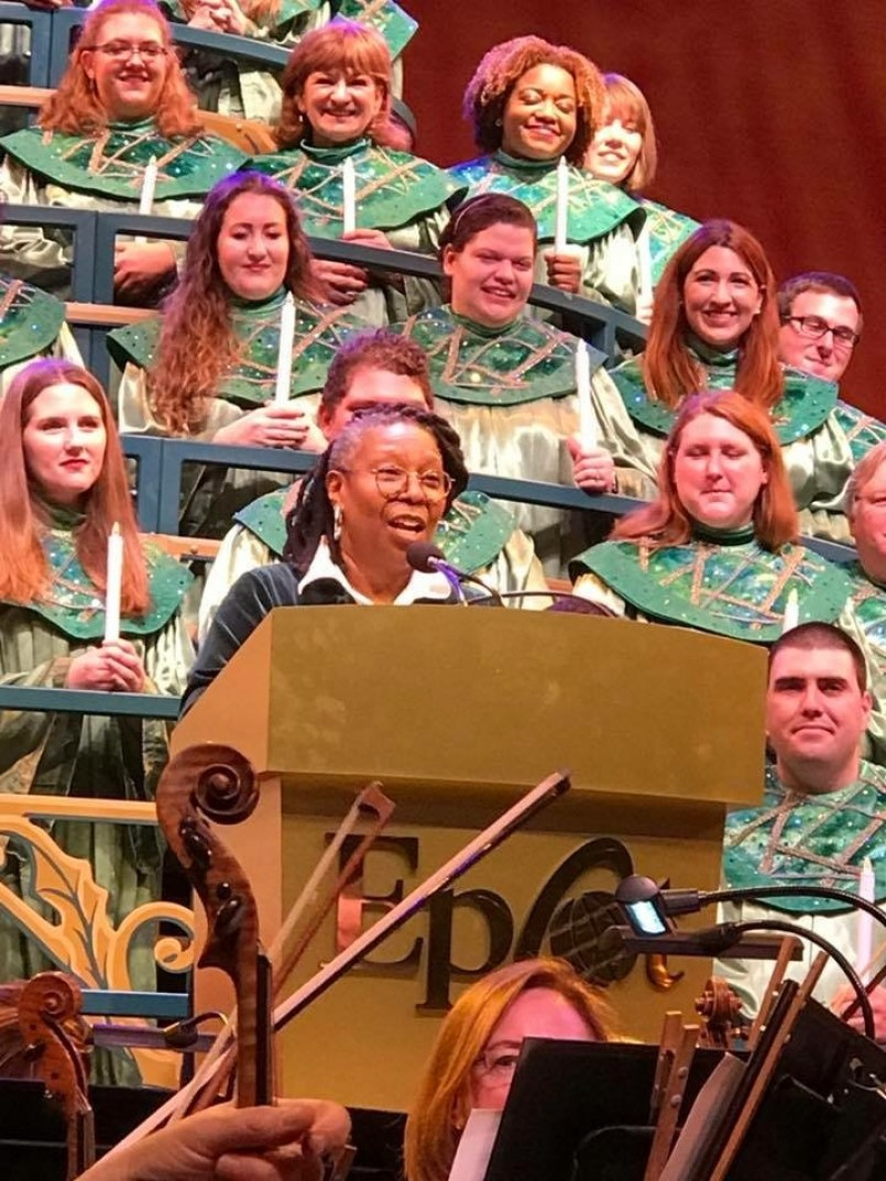 Candlelight Processional Whoopie Goldberg Epcot