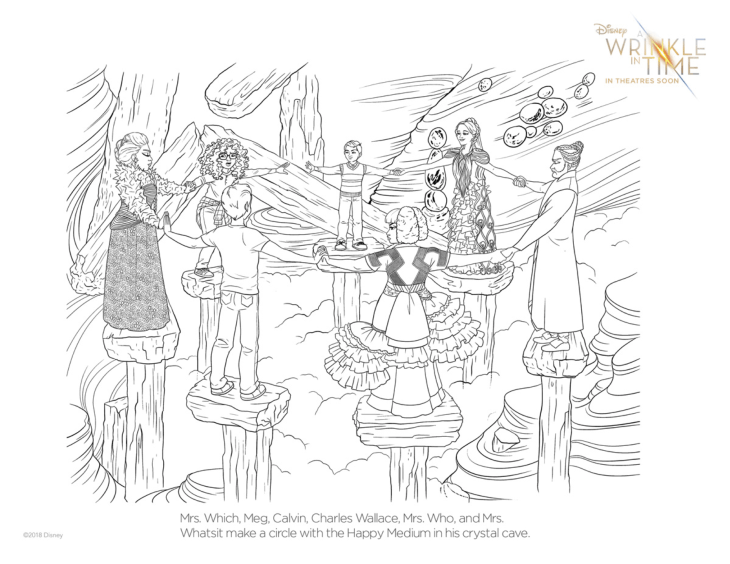 Wrinkle In Time Free Coloring PAges