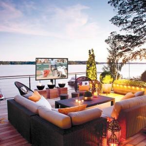 Indoor TVs Don't Belong Outdoors And Now Thanks To SunBriteTV Outdoor Living Just Got Better @SunBriteTV  @BestBuy #ad