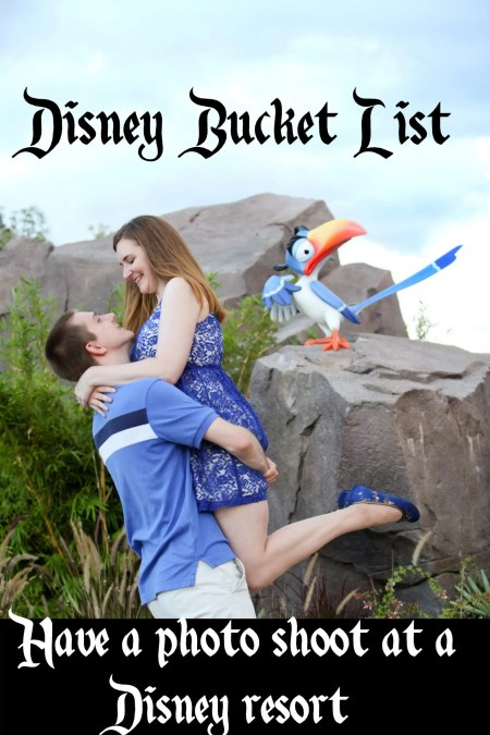 bucket list - photo shoot at resort